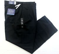 Men Croft & Barrow No Iron Stretch Classic-Fit Pleated 68% Cotton Pants - Black