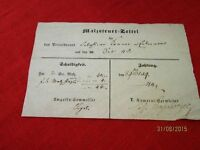 Malzsteuer Papers - Original Receipt - Well From 1848 - Private Brauer/S46