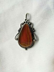 Vintage Agate Gemstone Pendant