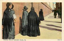 Amish Women Lancaster Pennsylvania Pa Religious Sects Postcard