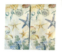 Starfish Shell Guest Hand Towels Paper Napkins 20 pk Set of 2 Summer Beach House