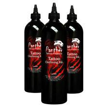 Panther suministros de tatuaje Negro Contorno Tinta 500ml botella