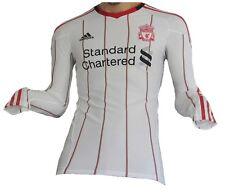 Liverpool FC Jersey 2010/11 Away LS Adidas Techfit Shirt Soccer England L