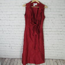 MaxMara Dress Womens Size 6 Red 100% Silk