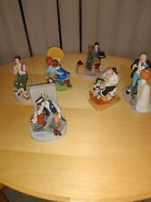 Norman Rockwell Porcelain Figurines set of 6 1980 Danbury Mint