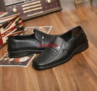 Men Loafers Leather Driving Shoes Business Formal Dress Oxfords Slip-On Moccasin