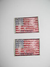 2 STÜCK AUFNÄHER- PATCH- APPLIKATION - USA- FAHNE- FLAGGE- STARS AND STRIPES