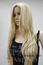 Haute qualité blonde long bouclé Dames Femmes Mode Cosplay perruque de cheveux
