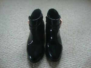 Ted Baker girl's black patent leather boots size 11