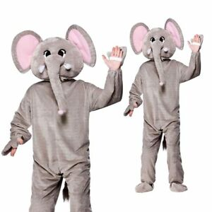 New Adults Giant Deluxe Mascot Coldplay Paradise Elephant Costume Animal Fancy D