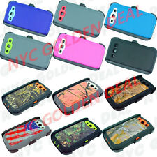 Defender Rugged Case for Samsung Galaxy S3 w/Belt Clip & Screen Protector