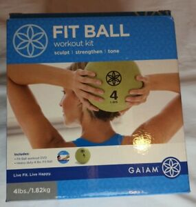 Fit Ball WorkOut Kit Fitness Exercise Workout New 4 lb GAIAM
