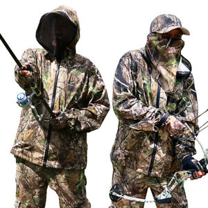 Hunting Fishing Breathable Anti-scratch Anti-mosquito jkt+pants Ghillie Suit Set