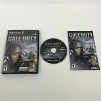 Call of Duty: Finest Hour - Playstation 2 PS2 Game - Complete & Tested Bk Label