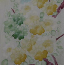 Japanese vintage kimono silk fabric Hand Painted Cherry Blossom (d)