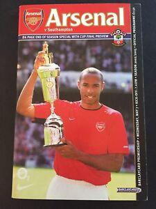 "Arsenal ""49 Unbeaten"" Home V Southampton 7/05/2003 Game 1"