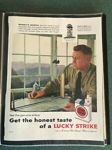 Forest Fire Lookout Tower Bald Mountain , VA, Lucky Strike Cigarette   Print Ad