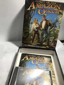 Flight Of The Amazon Queen PC CD-ROM Big Box Vintage Classic Adventure Game