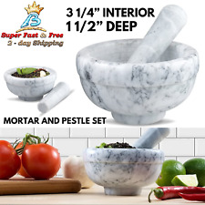 Mortar And Pestle Set Marble Guacamole Bowl Spice Herb Kitchen Grinder Crusher