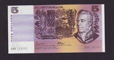 $5 Paper Banknote Australia Fraser Johnston  QAB 122233 Series Error Note F-720