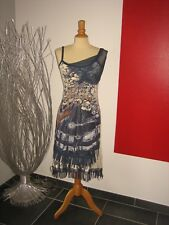 ELEGANTE ROBE DRESS VOILE RESILLE & LIENS CUIR SAVE THE QUEEN T S 36 38 UK 8 10