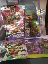 Teenage Mutant Ninja Turtles Lot of bath mitt, play pack,  puzzle, and crayons