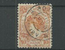 Nederland 80  Wilhelmina  10 Gld  VFU/gebr   CV  750  €