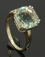 9 Carat Yellow Gold Green Stone Solitaire Ring Size P 9CT(80.17.526)