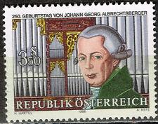 Austria Music Famous Composer Johann Georg Albrechtsberger stamp 1985 MNH