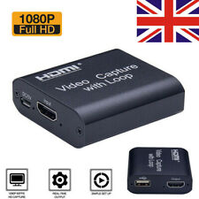 HD 1080P 60fps HDMI Video Capture Card USB 2.0 Mic Game Record Live Streaming