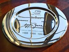 Ayrton Senna, World Champion F1 Winner's Platter. Trophy Style Charger Plate.