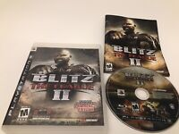 Blitz The League II 2 PlayStation 3 2008 PS3 Football Complete Good Condition
