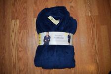 NWT Mens Tommy Bahama Plush Wrap Robe W/Pockets Navy Blue Size Small/Medium L/XL