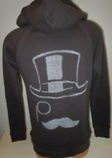 Junk Food Monopoly Mens Black Hoodie Size XL Game Top Hat  Sweatshirt Monocle
