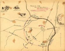 Sketch map of Franklin Tn c1863 repro 20x16