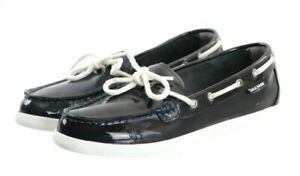 Cole Haan Women's Boat Shoes Size 8 Patent Leather Blue