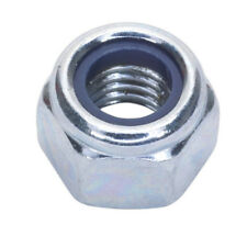NYLON LOCK NUT M8 ZINC DIN 982 PACK OF 100 FROM SEALEY