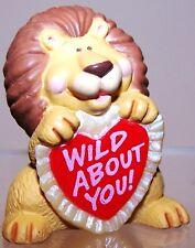 """1992 New Hallmark Valentine Merry Miniature """"Wild About You� Lion Mint Qsm9719"""