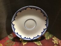 "Ralph Lauren Tea Saucer Mandarin Blue  6.25"" Diameter Blue & White Border"