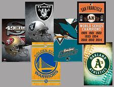 San Francisco Oakland Bay Area SPORTS 6-POSTER COMBO Warriors, Giants, 49ers, ++