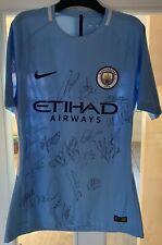 Man City 18/19 Treble Winning Signed Shirt