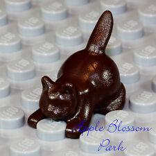 NEW Lego Minifig Animal - Dark BROWN KITTEN - Boy/Girl Friends Pet Farm Cat