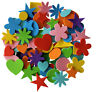 NEW 180 Self Adhesive Craft Foam Shapes Childrens Colours Shapes Stickers Kids