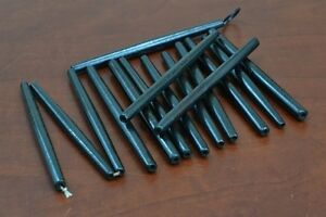 "8 PCS BLACK BUFFALO BONE HAIR PIPE TUBE BEADS PENDANTS 4"" #T-1791"