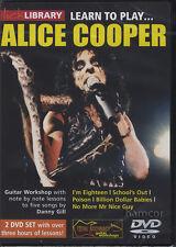 IMPARA a suonare Alice Cooper LICK LIBRARY Lezioni di Chitarra DVD Set da Danny Gill