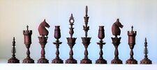 "Fine quality  ""Selenus"" style chess set in Ebony/Paduuk   K=115mm (4.6"")"