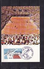 carte  1er jour   sport   tennis  Roland Garros    Paris    1978