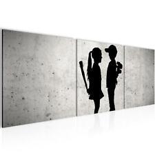 Wandbild XXL -Banksy Schlafzimmer Wohnzimmer Deko -Flur - Bilder Modern 3D
