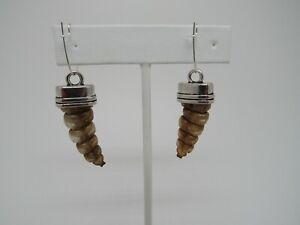 Rattlesnake Rattler Tail Earrings Jewelry  Snake  Spirit Animal Bone E354