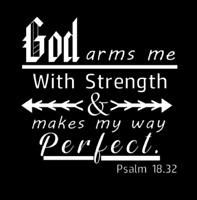 Psalm 18.32 Christian Vinyl Decals, Bible verse, Christian, J&R Custom Vinyl